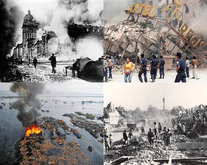 Сильнейшие землетрясения за последние 100лет