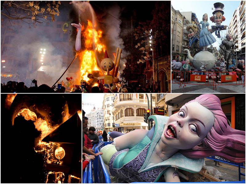 Испанский фестиваль Las Fallas: Пламя Валенсии
