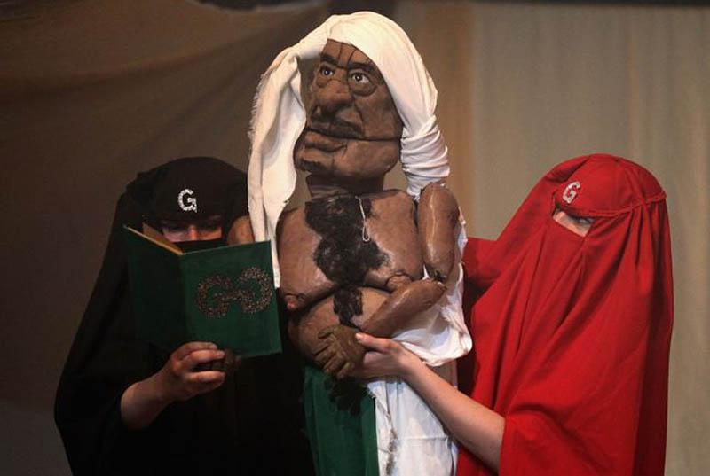 0220 Кукольный спектакль про Каддафи