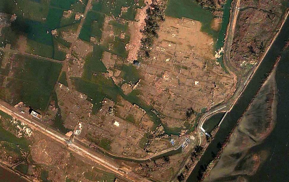 0222 Снимки со спутника: До и после землетрясения в Японии