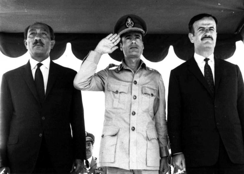 03 Муаммар Каддафи в разные годы своего правления