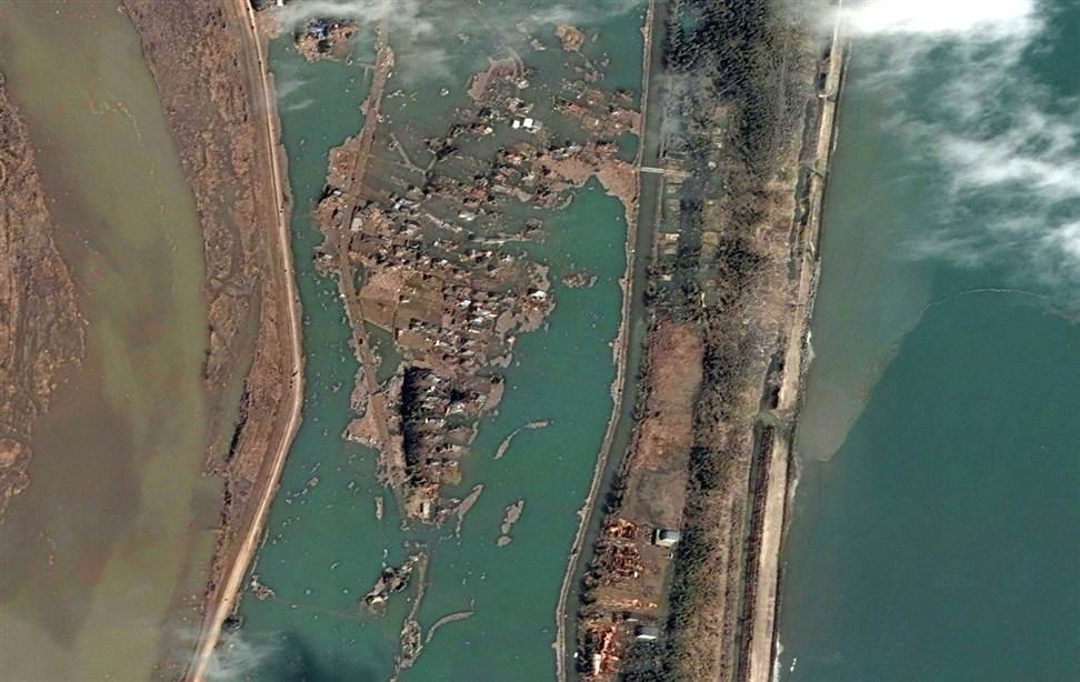 0622 Снимки со спутника: До и после землетрясения в Японии