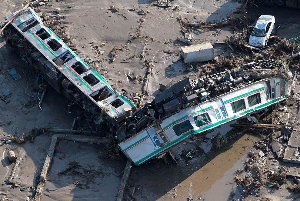 0922 Последствия землетрясения и цунами в Японии