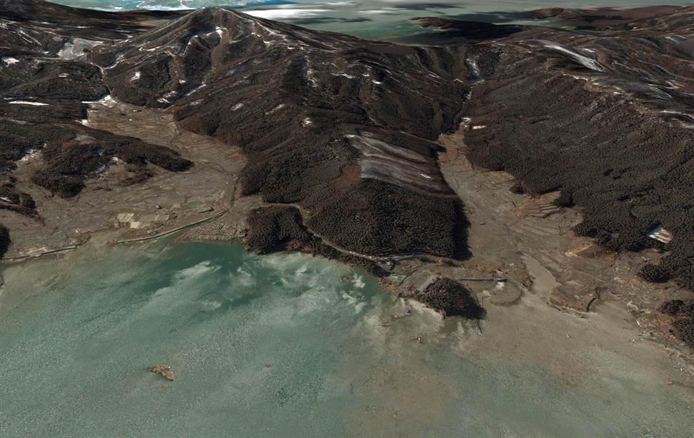 1033 Снимки со спутника: До и после землетрясения в Японии