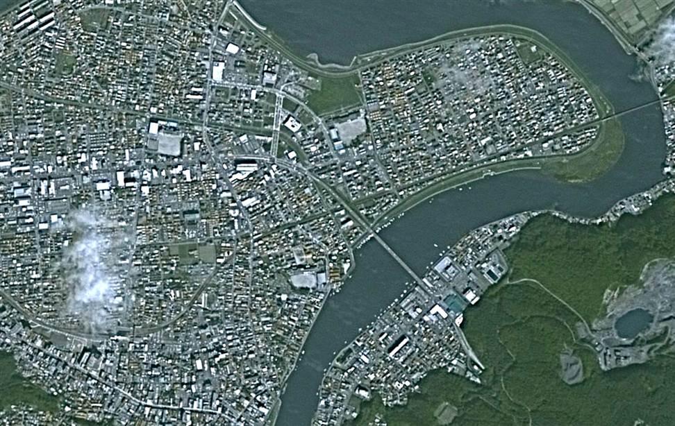 1231 Снимки со спутника: До и после землетрясения в Японии
