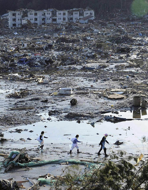 1634 Последствия землетрясения и цунами в Японии