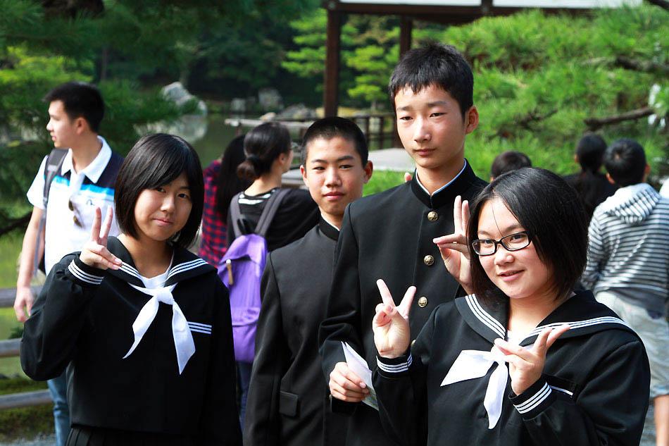 Японские школьники
