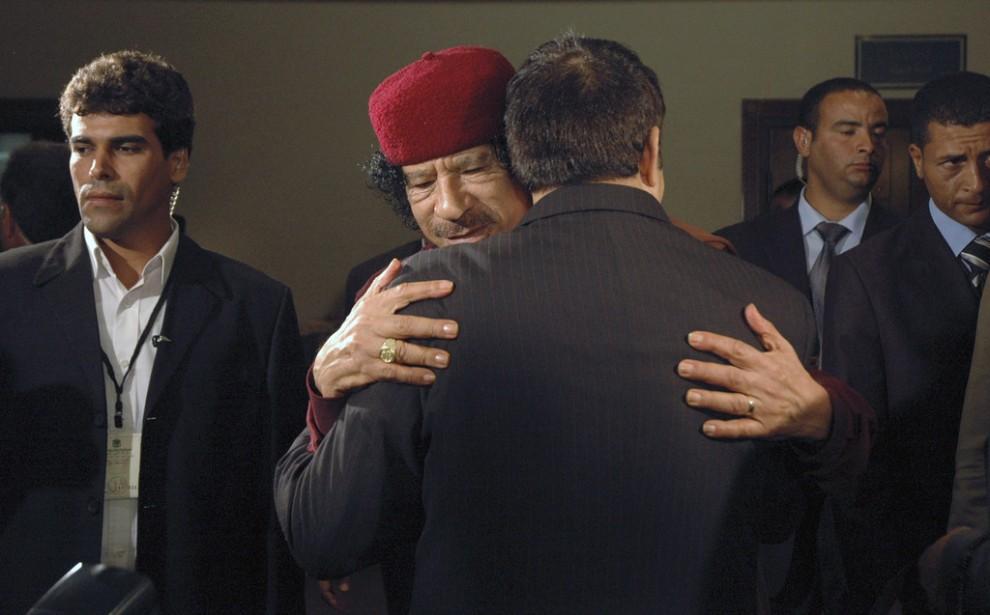 20 990x615 Муаммар Каддафи в разные годы своего правления
