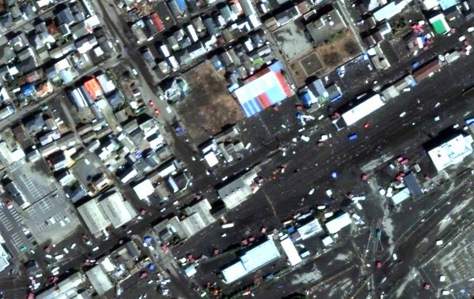 2611 Снимки со спутника: До и после землетрясения в Японии