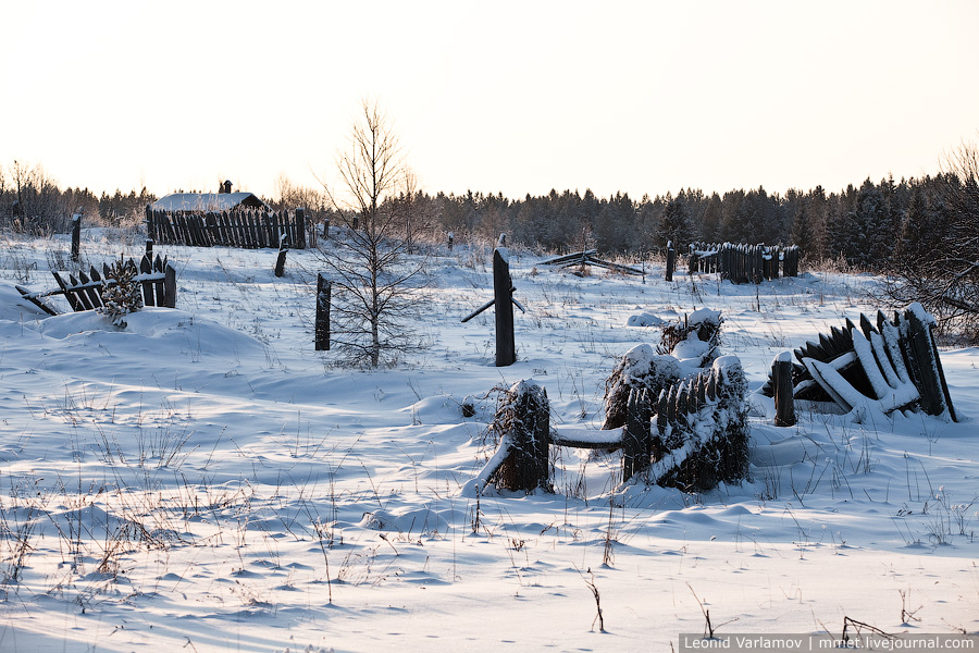 Русская деревня, зима 2010-11