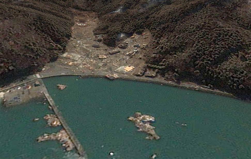 365 Снимки со спутника: До и после землетрясения в Японии
