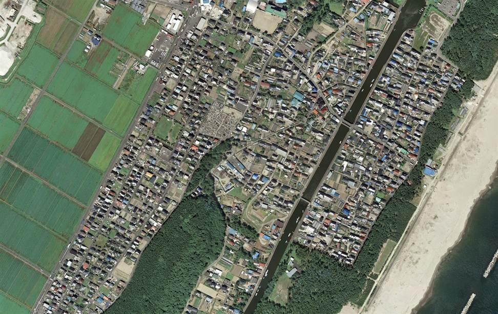 375 Снимки со спутника: До и после землетрясения в Японии