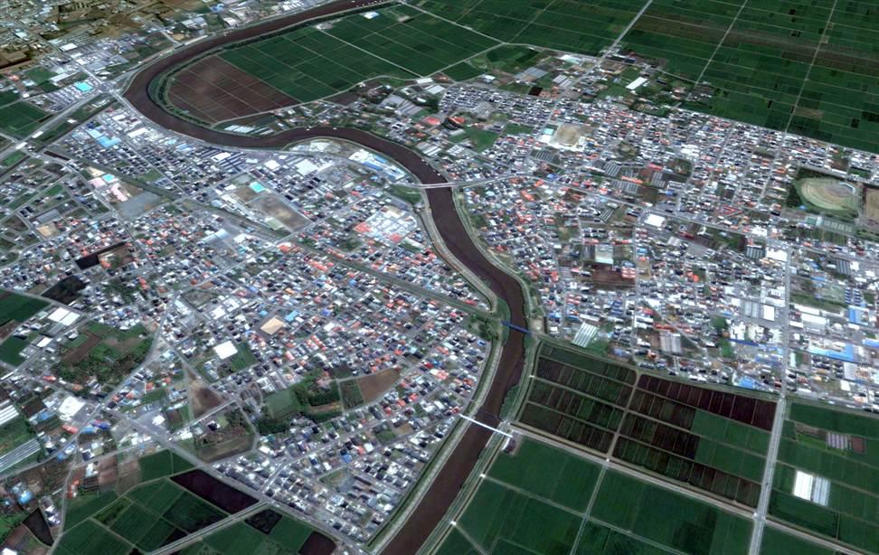 395 Снимки со спутника: До и после землетрясения в Японии