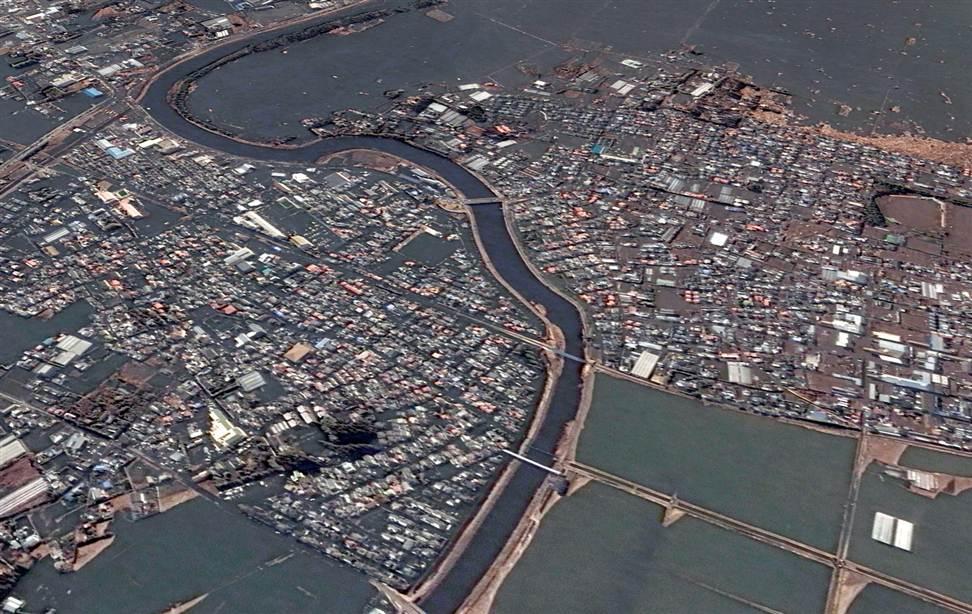 404 Снимки со спутника: До и после землетрясения в Японии