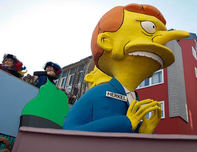 merkel simpsons 1842478i Политическая сатира на немецких карнавалах (Часть 2)