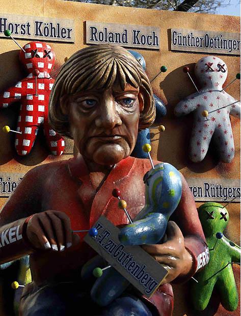 merkel voodoo 1842486i Политическая сатира на немецких карнавалах (Часть 2)