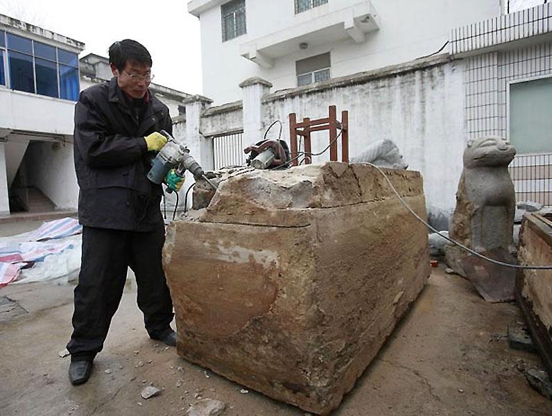 mummy01 В Китае строители нашли мумию