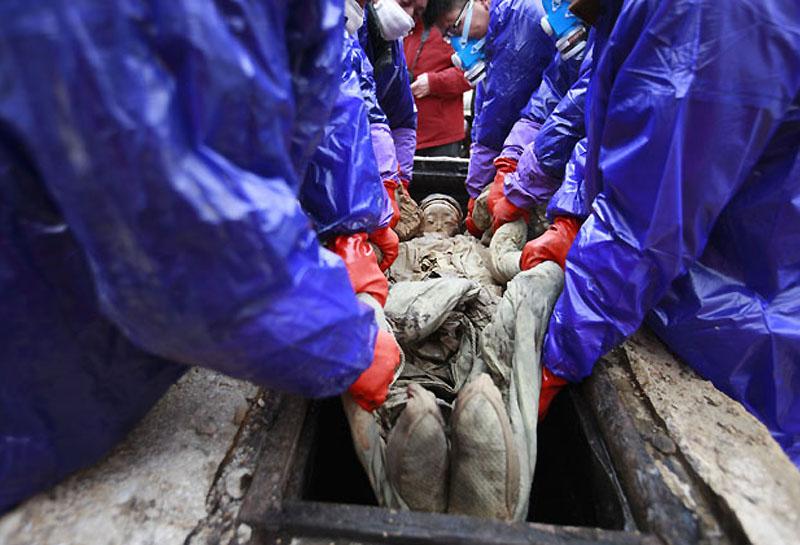 mummy07 В Китае строители нашли мумию