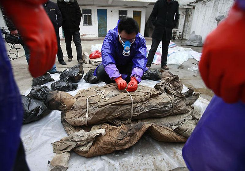 mummy10 В Китае строители нашли мумию