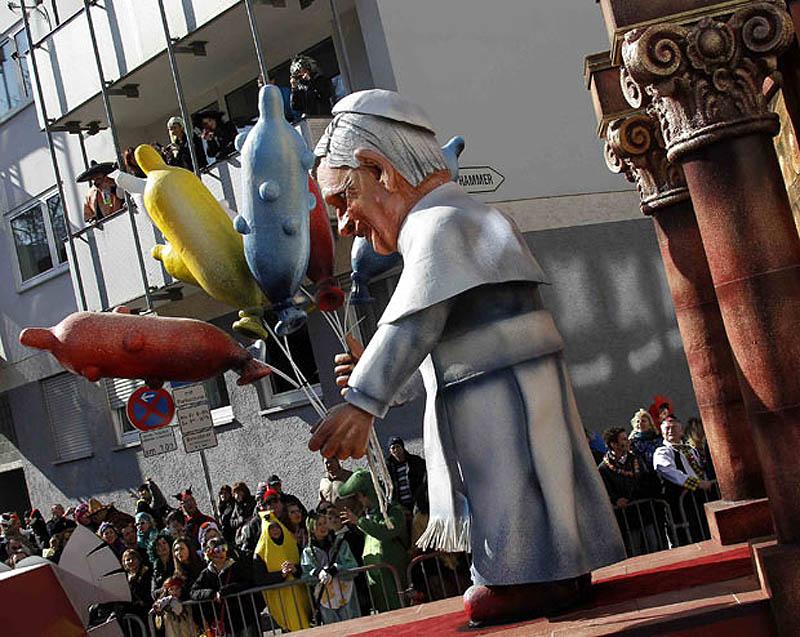 pope 1842468i Политическая сатира на немецких карнавалах (Часть 2)