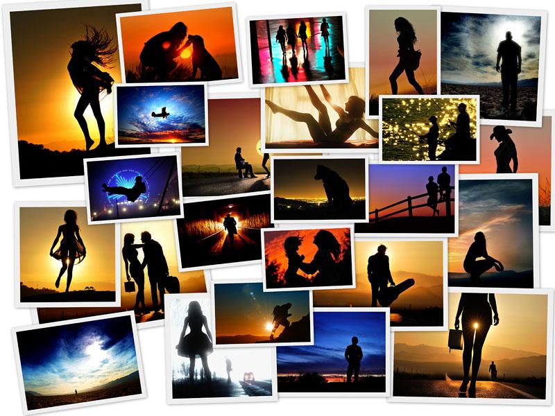 0073 Силуэты на закате от фотографа Ти Джей Скотта