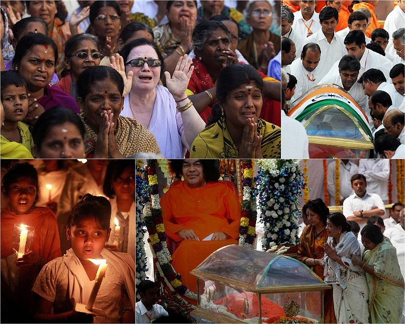 Полмиллиона человек собрались на похороны гуру СаиБабы