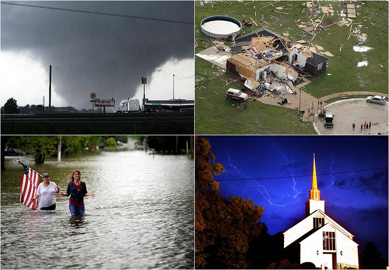 0092  Ураганы и торнадо на юге США