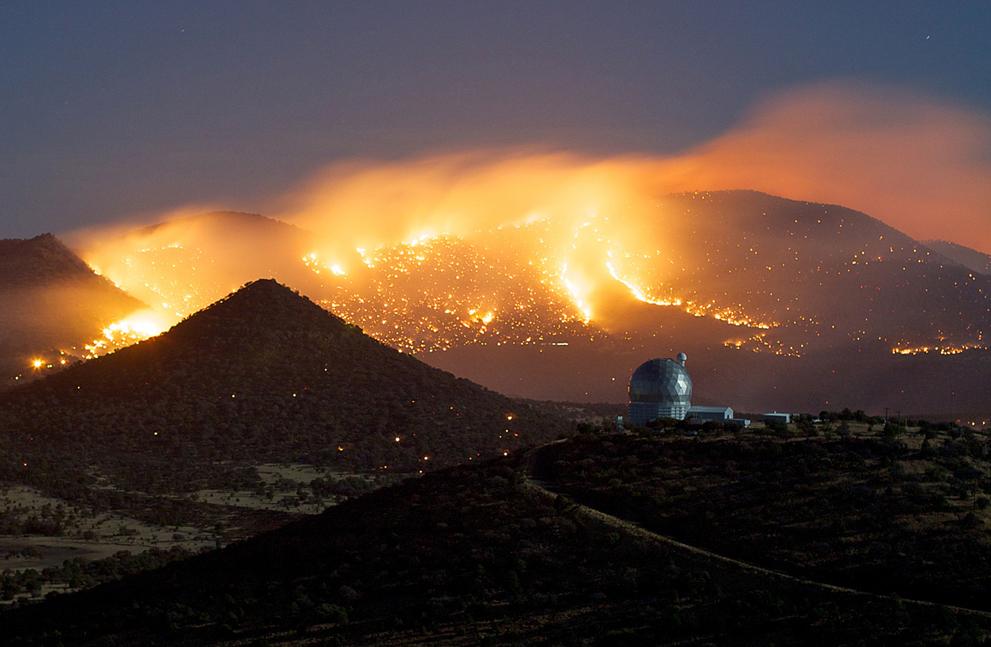 Лесные пожары в Техасе