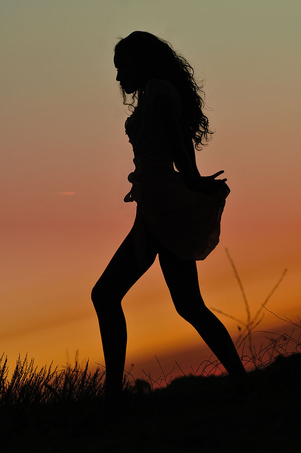Как сделать силуэт на закате