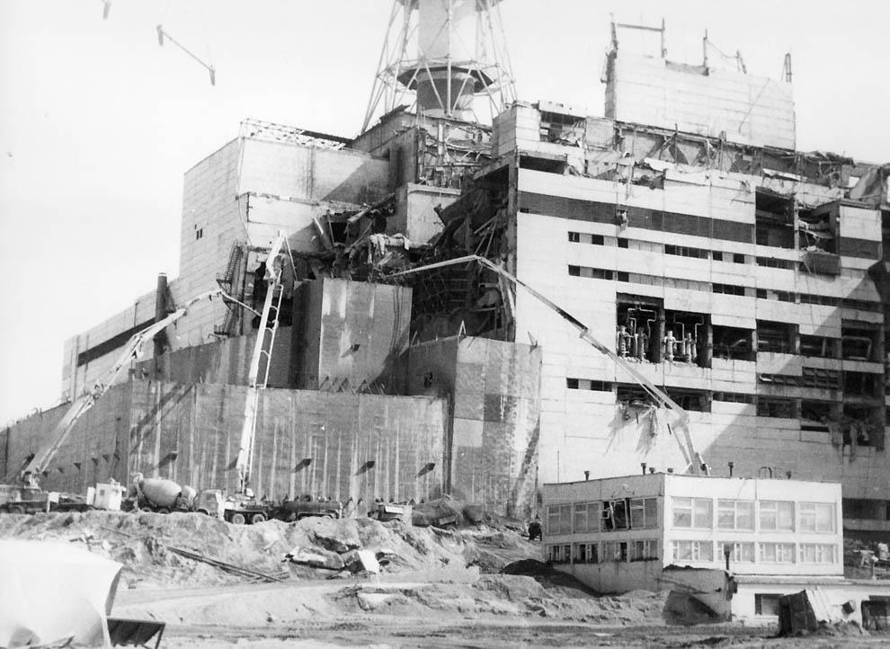 Чернобыльская АЭС, август 1986.