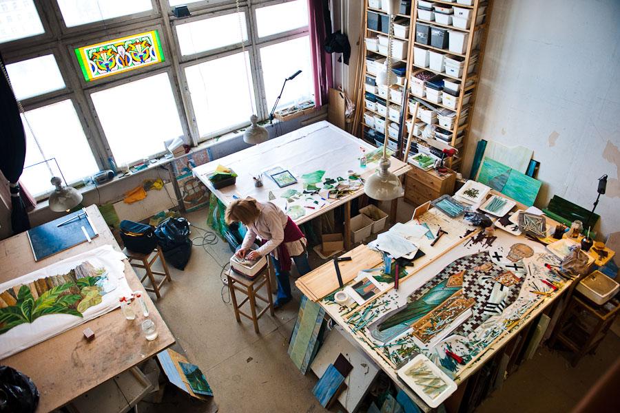 Мозаика: живопись стеклом