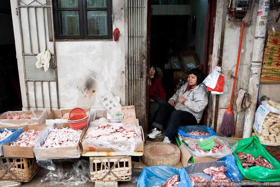 Уличная торговля в Китае. Гуанчжоу