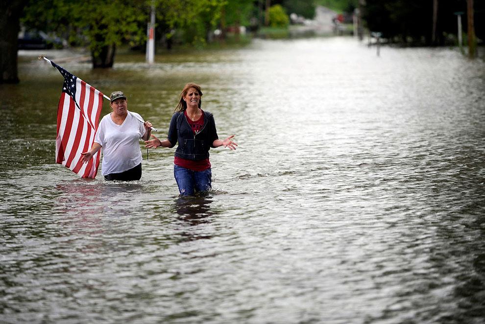 Мощные ураганы в США Severe Weather Illinois.