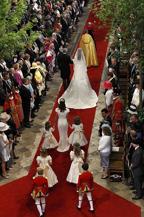 wedding11 Pernikahan Pangeran William dan Kate Middleton mengambil