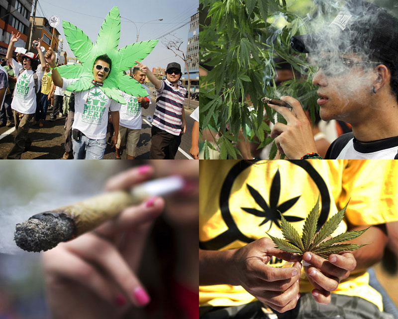 Марши за легализацию марихуаны в разных странах мира