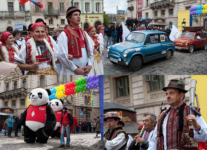 День города во Львове: Праздничное шествие