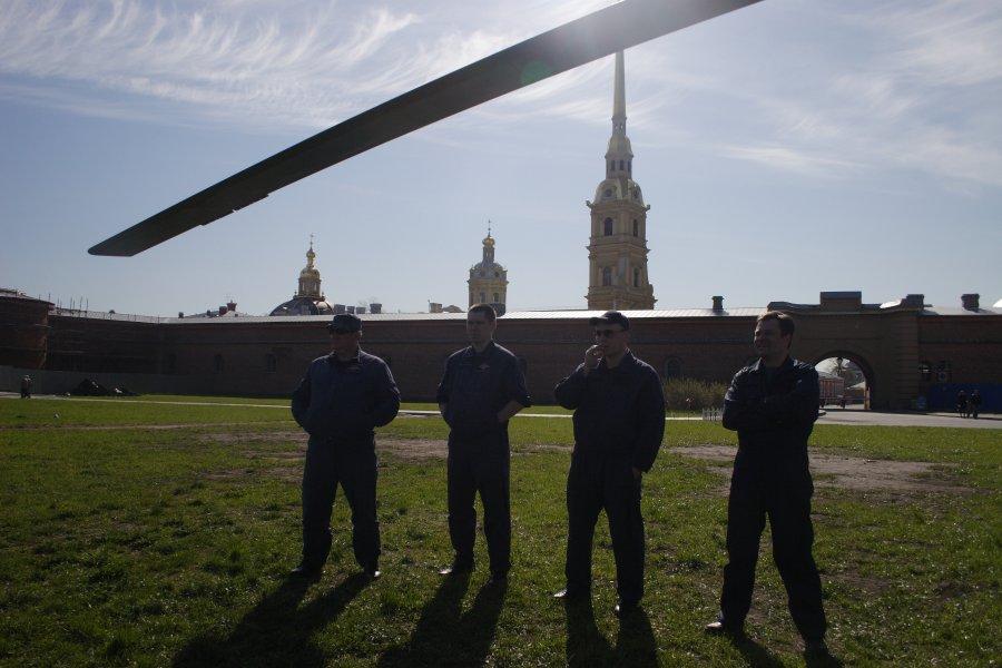 День Победы, вид с неба