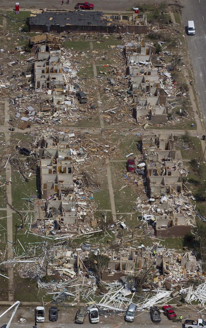 6f712ab Последствия торнадо в Алабаме: Вид сверху