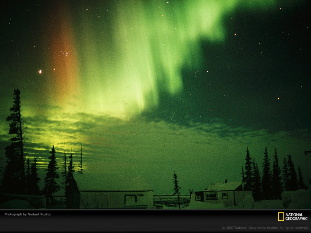 Узоры в природе: полярное сияние