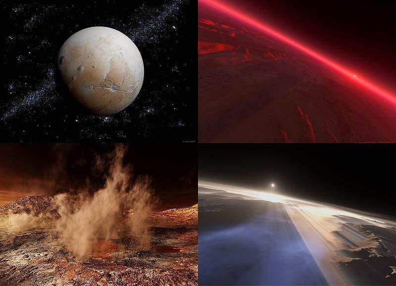 00001 Удивительные виды древнего и современного Марса