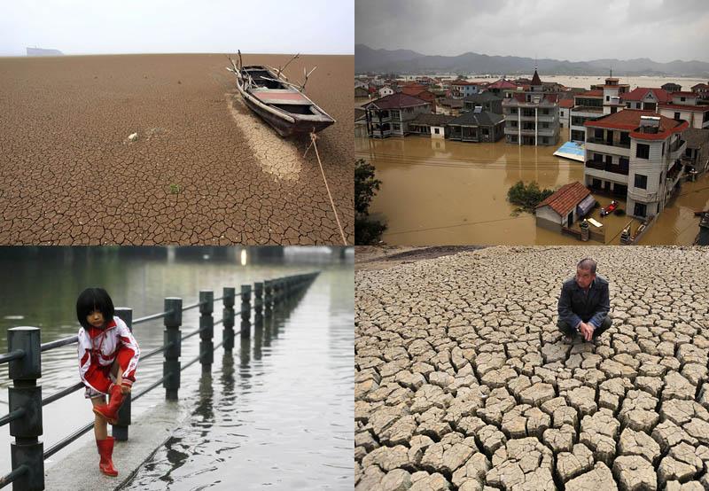 Наводнение после засухи вКитае