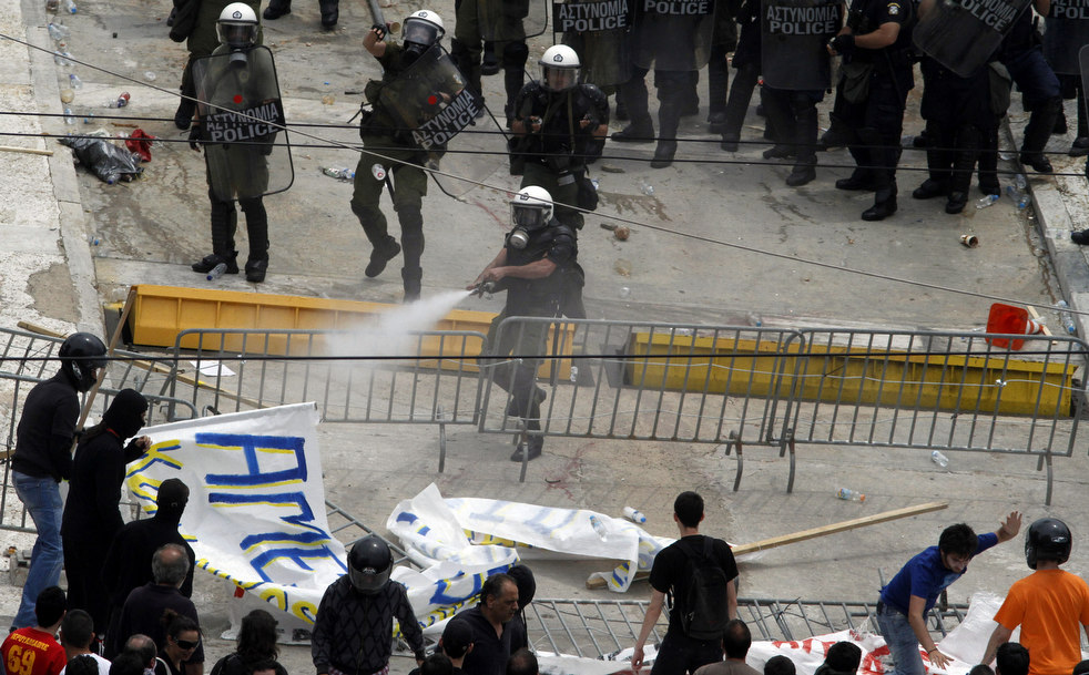 1391 Греческие демонстрации