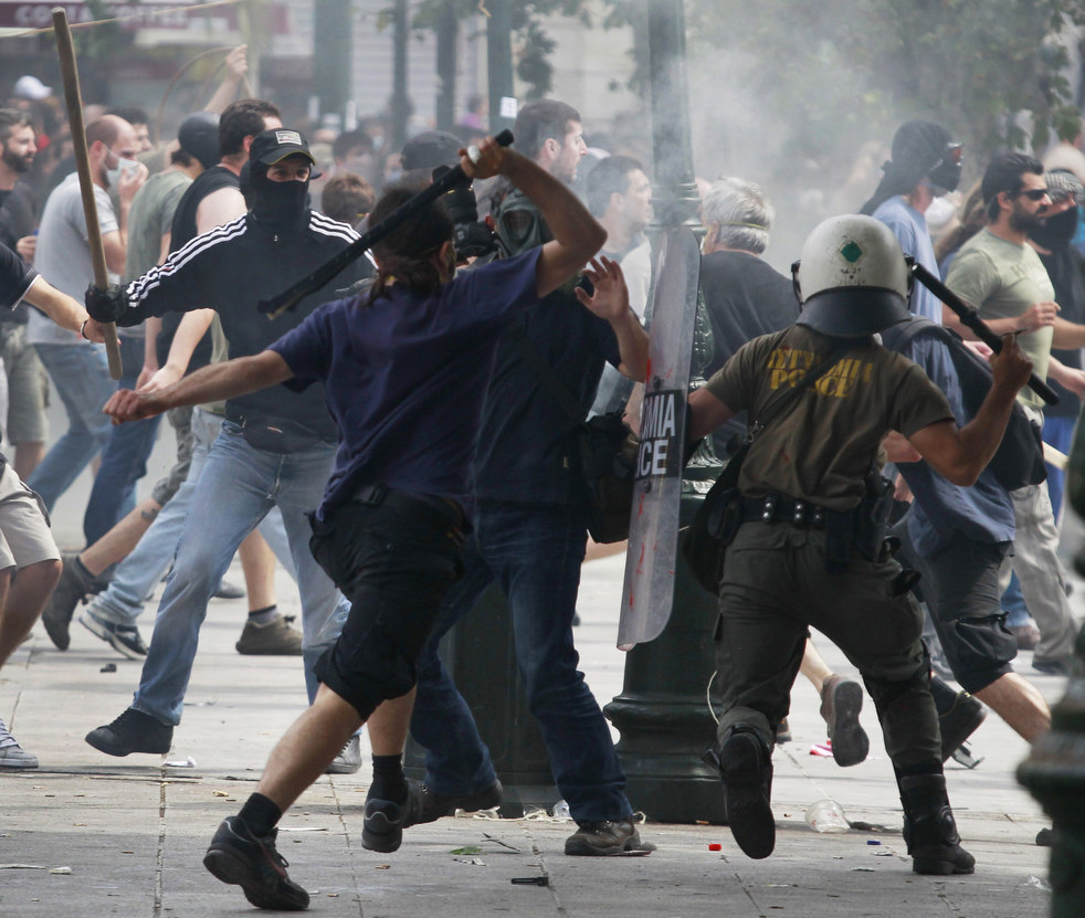 1486 Греческие демонстрации