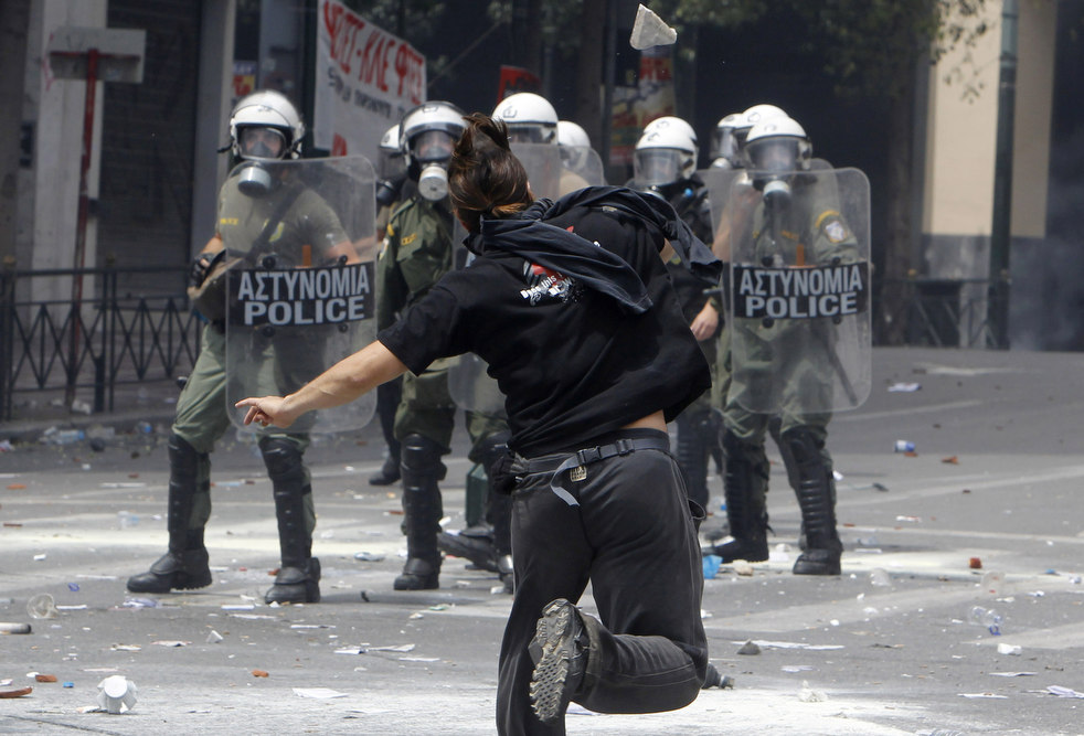 1582 Греческие демонстрации