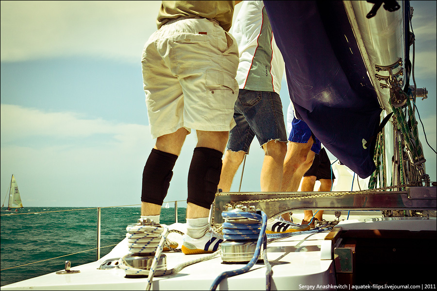 Будни яхтенной команды