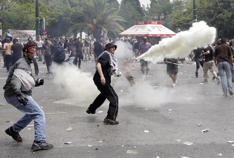21110 Греческие демонстрации