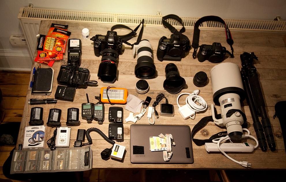 западных набор для репортажного фотографа ним работают аккуратно