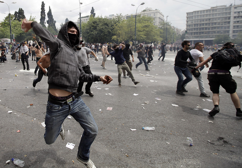 2552 Греческие демонстрации