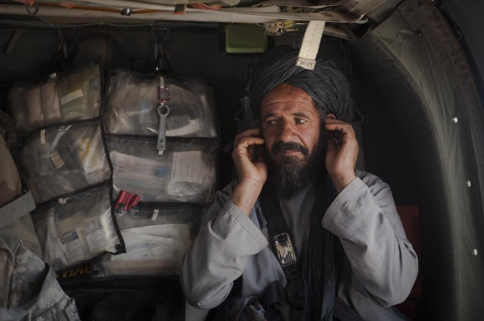 На борту медицинского вертолета в Афганистане