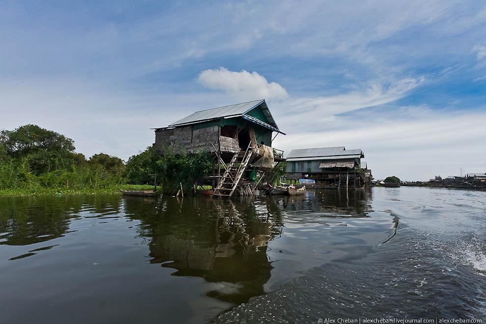 Затопленные леса в Камбодже